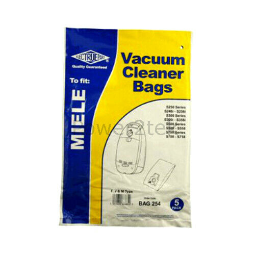 5 x sacchetti per aspirapolvere FJM Per Miele s262i s290 s290i Hoover UK