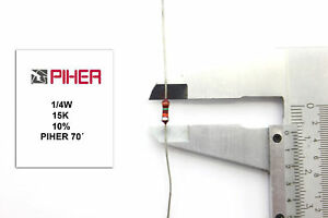 Vintage Piher Resistor. 1/4w 15k 10% *4 Pc* New Original 1970´s + F221015 Sensation Confortable