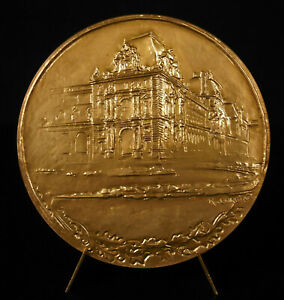 Medal-Hotel-of-Ministry-of-Finance-in-the-Palace-of-Louvre-R-Corbin-1975-Medal