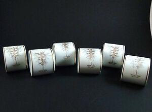 6-Vintage-Fukagawa-Arita-Golden-Bamboo-Napkin-Ring-Holder