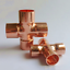 15-//22//28//35//42mm ID Copper End Feed Solder Cross 4 Way Plumbing Coupler copper