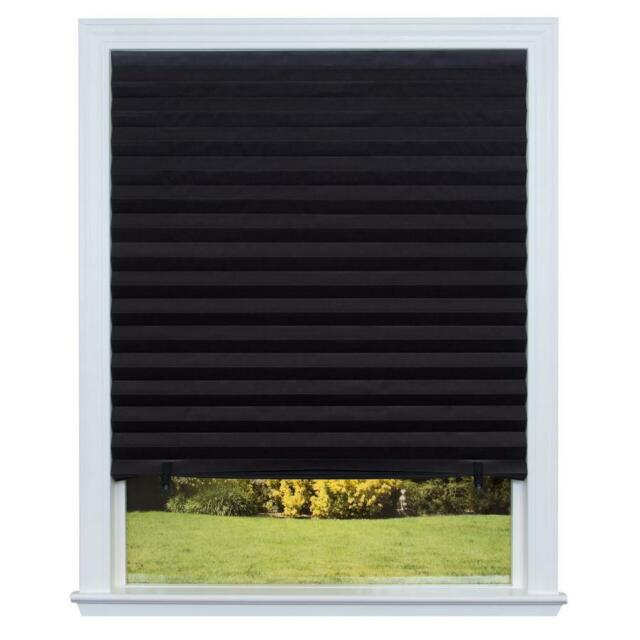 36 x 72 window tilt turn redi shade paper window blinds black out pleated 36 72 in inch new free shipp out ebay