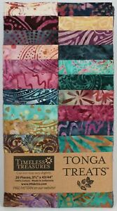 Timeless-Treasures-Zanzibar-Tonga-Treats-Jr-Jelly-Roll-20-Batik-2-5-034-Strips