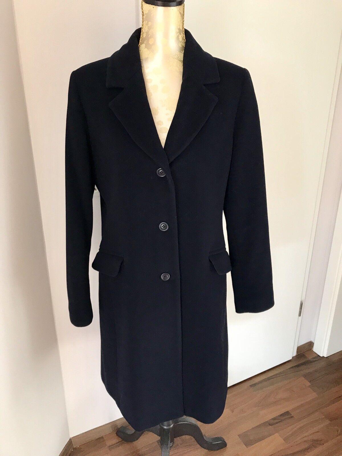 Oscuro abrigo azul   Best Connection  talla 42  Neuw  lana virgen & cachemira  tienda