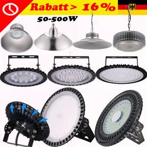 50W-100W-200W-500W-UFO-LED-Hallenleuchte-Industrielampe-Hallenstrahler-Kaltweiss