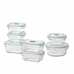 Glasslock Oven and Microwave Safe Glass Food Storage Containers 14 Piece Set
