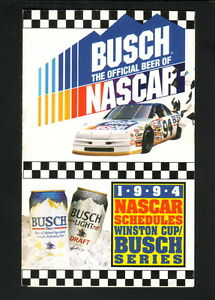 Details about Winston Cup/Busch Series--1994 NASCAR Pocket Schedule--Busch  Beer