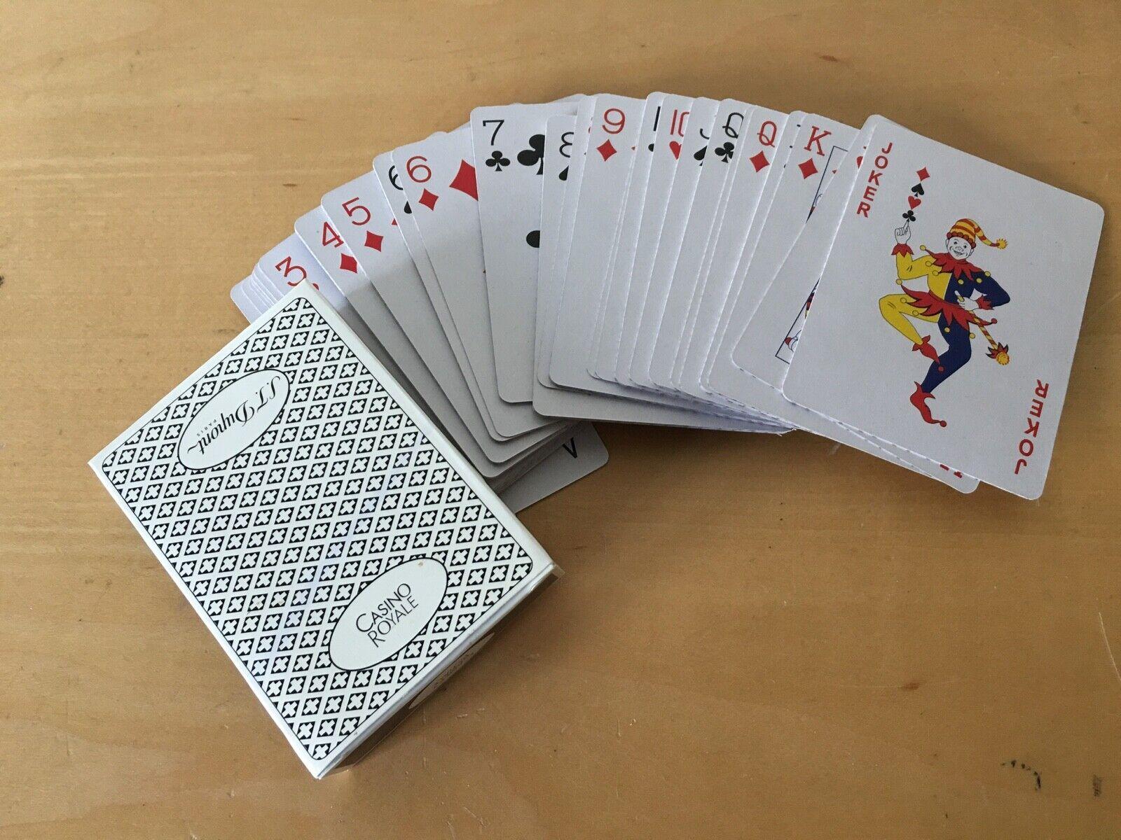 Neu - -spiel Spielkarte Poker S.T.Dupont Casino Royale Poker Card Game - Neu