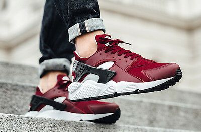 Nike Air Huarache UK Sizes 11 EUR 46 Men's Trainers Shoes Red White Black New