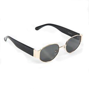 Men/'s CLASSIC RETRO HIP HOP Style SUN GLASSES Round Gold /& Black Frame Dark Lens