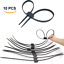 Disposable Zip Tie Handcuffs Double Locking Ties Restraints Very Thick Plastic