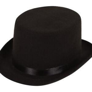 Chapeau-Haut-de-forme-noir-feutre-gentlemans-Ascot-victorien-Dicken