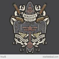 Firefly Serenity Browncoats Never Forget Crest Limited Edition Mens T-shirt M-2x
