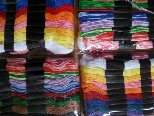 36 SKEINS  QUALITY EMBROIDERY THREAD GOOD VALUE FOR MONEY ASSORTED COLOURS