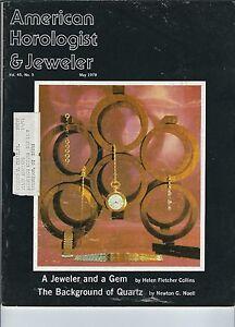 MF-065 - American Horologist & Jeweler Magazine May 1978 Jeweler and a Gem vntg