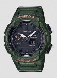 Casio Baby-G * BGA230S-3A Dual Time Khaki Green Anadigi Watch PayPal #crzycod