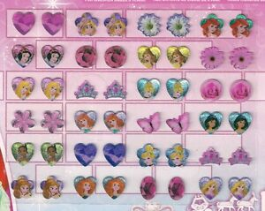 24-pairs-stick-on-earrings-DISNEY-PRINCESS-party-gift-temporary-jewellery