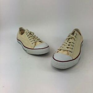 894308dd6a12 Converse All Star Chuck Taylor Canvas Shoes Low Top Brand Cream Sz ...