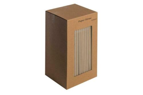 """Kraft Paper 8/"""" Straws 250 Biodegradable /& Recyclable Drinking Straws"""