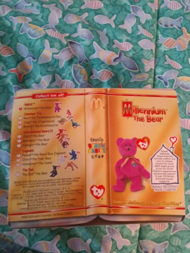 TY BEANIE baby Millennium The Bear McDonald/'s collectible