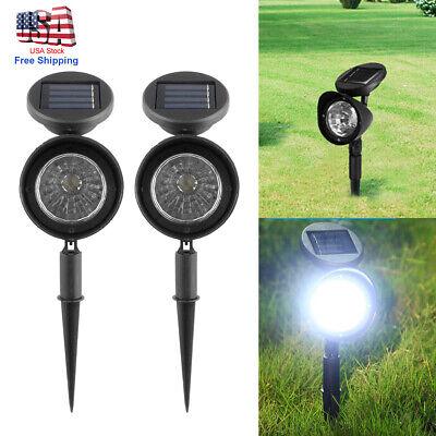 2Pcs Solar 4 LED Spot Light Outdoor Garden Yard Landscape Flood Lamp Waterproof