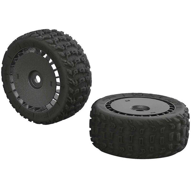Arrma AR550048 KATAR T 6S 6S 6S Tire Wheel Set Talion (2) 1dd4e0