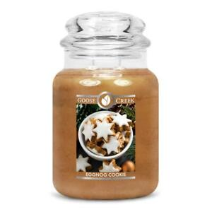 ☆☆EGG NOG COOKIE☆☆LARGE GOOSE CREEK CANDLE JAR 24 OZ.☆☆FREE SHIPPING