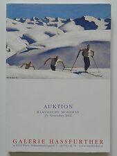 Klassische Moderne Auktion 25 November 2002 Galerie Hassfurther Walde Schiele