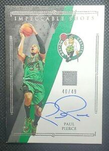 2020-21 Impeccable Basketball Paul Pierce Impeccable Shots Auto # /49 Celtics
