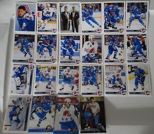 1992-93-Upper-Deck-UD-Quebec-Nordiques-Team-Set-of-22-Hockey-Cards
