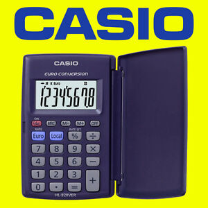 Image Is Loading Casio Hl 820ver Pocket Calculator Euro Conversion With
