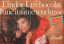 Publicité 1983  (Double page)  Lindor chocolat Lindt