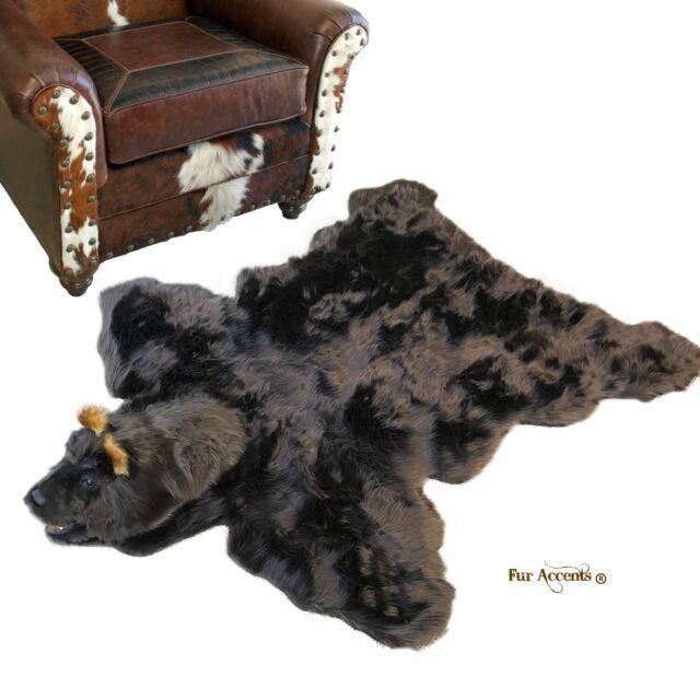 Bear Skin Rug Taxidermy Reproduction