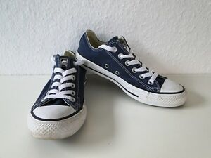 Details zu Converse All Star Chucks Sneaker Turnschuhe Slim Low Stoff Blau Gr. 4,5 37