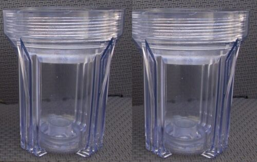 """2x Clear 5/"""" filter Housing lid not include"""
