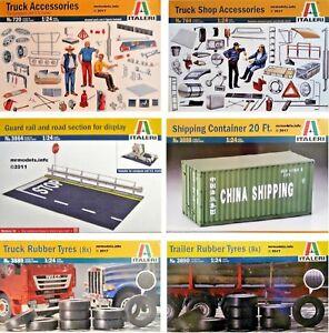Italeri-1-24-Truck-Accessories-New-Plastic-Model-Kit-1-24