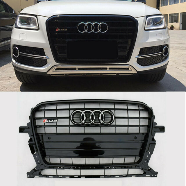 Black Front Upper Strip Grille Sq5 Style Grill For AUDI Q5