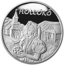 Ungarn 5000 Forint Silber 2003 PP UNESCO Kulturerbe: Hollókö dt. Rabenstein
