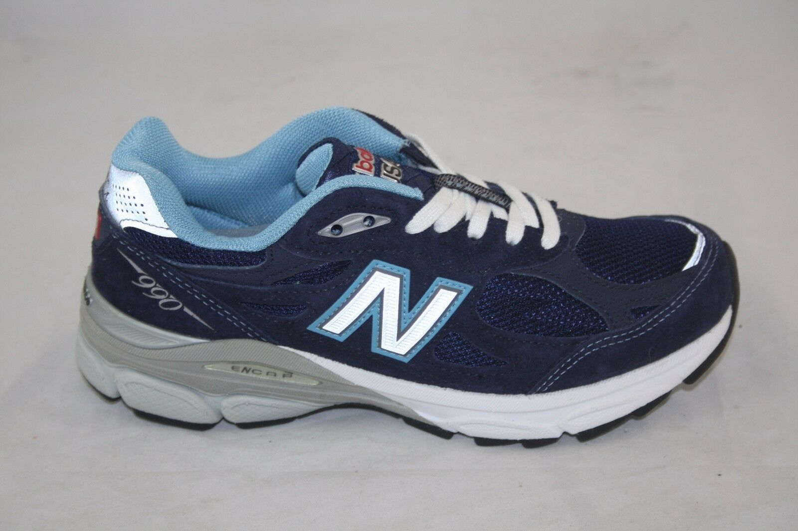 WMN'S NEW BALANCE W990NV3 RUNNING NAVY MADE IN USA SIZE 5.5 MSRP 155.00