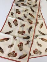 Pretty Talbots Silk Scarf Feather Print 12.5x60 769