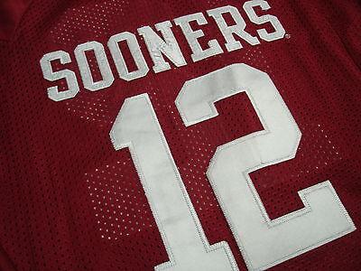 Nike OU Sooners Landry Jones FOOTBALL JERSEY Youth XL SEWN New !! | eBay