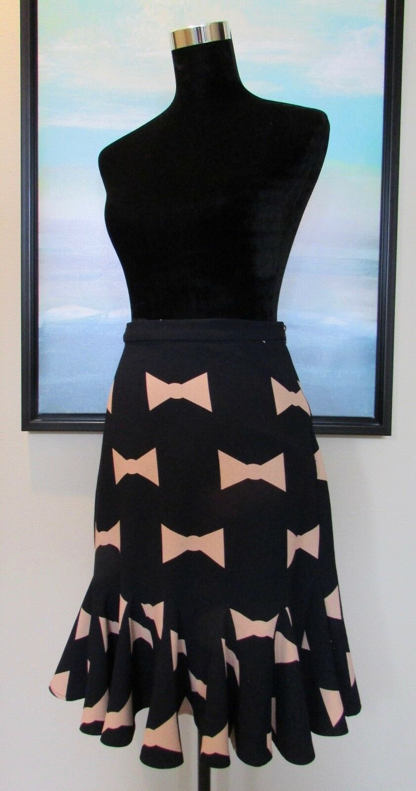 Anthropologie Eva Franco Bow Tie Skirt Sz 4