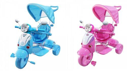 Triciclo Vespa Vespina 2 in 1 Con Manico Direzionabile Colori a Scelta