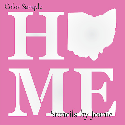 Joanie Stencil Ohio State Shape Buckeye Country Star Family Cabin Home Art Signs