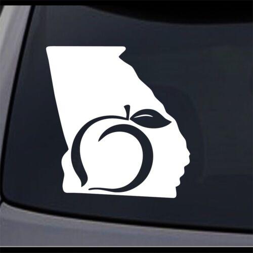 3 Pack Georgia State Map GA Permanent Vinyl Decal Laptop Window Car Sticker