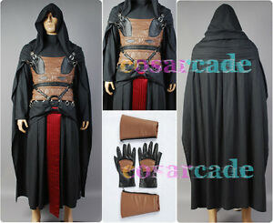 Star Wars Sith Dark Lord Darth Revan Cape Cosplay Costume Uniform Outfit Robe