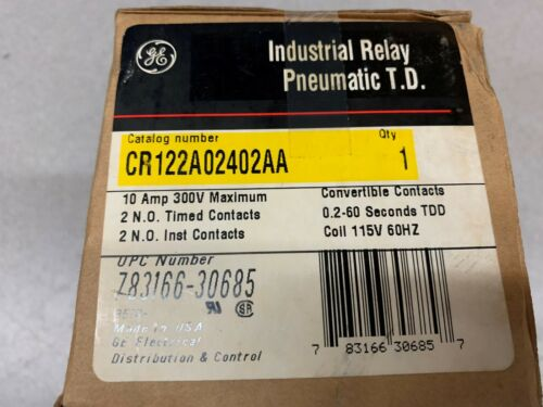 NEW IN BOX GENERAL ELECTRIC RELAY CR122A02402AA
