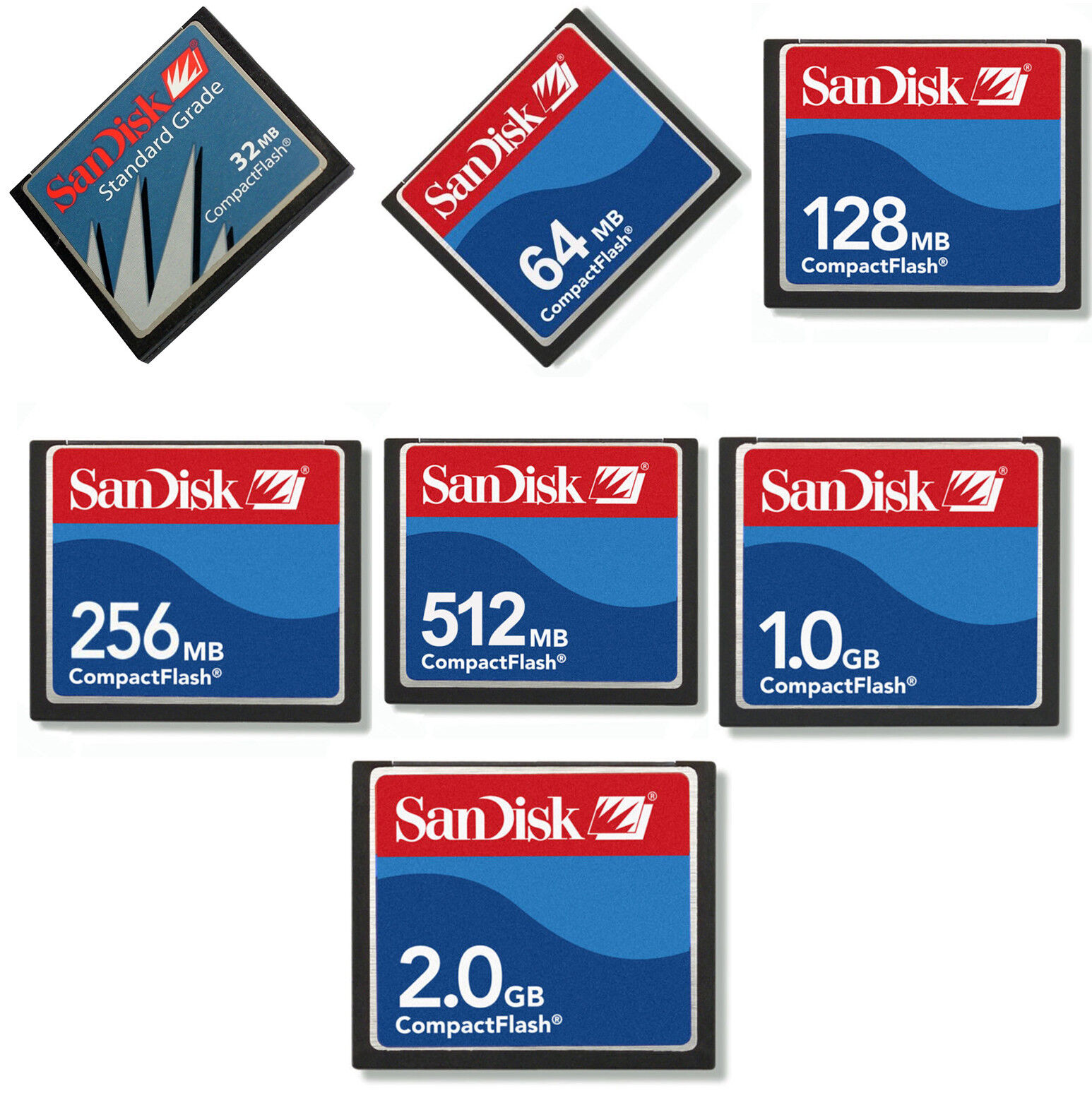 256MB 512MB CF SanDisk 64MB 1 GB de industrial 2 GB Ultra Compact Flash