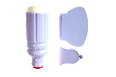 2er Stempel.Marshmallow.Sehr weich. 2 Scrapper (groß und klein) Kunststoff