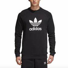 ADIDAS Originals Mens Trefoil Crew Sweatshirt CW1235 Black